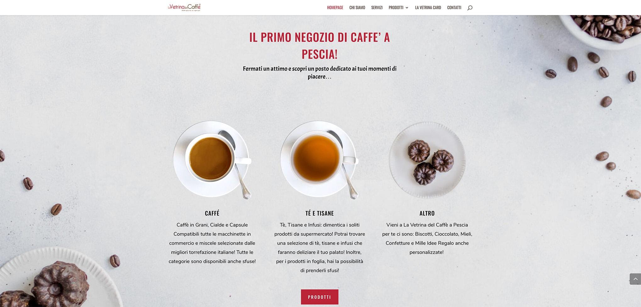 Leonteweb di Sara Cosimano La Vetrina del caffè Pescia Sito internet