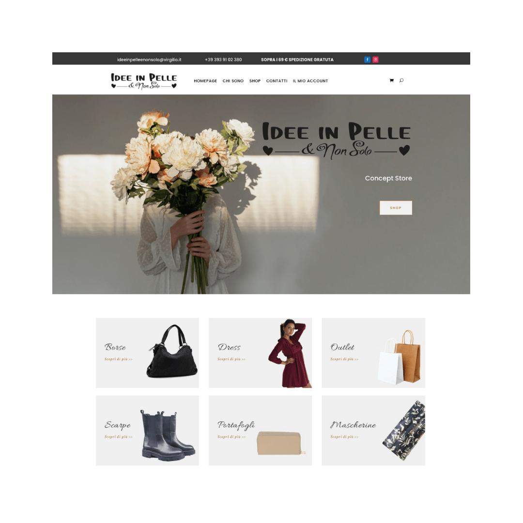 Leonteweb E-commerce Idee in Pelle & non solo E-commerce Sito internet