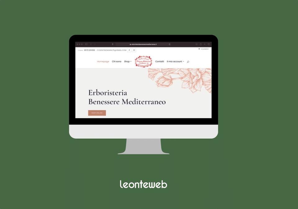 Sito E-commerce Erboristeria Benessere Mediterraneo
