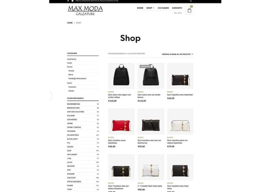 Leonteweb di Sara Cosimano L'evoluzione di Max Moda - Shop online E-commerce